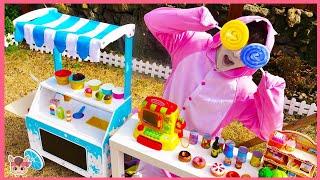 장난감 마트에서 신기한 색깔 사탕 팔아요! 주방놀이 요리놀이 마트놀이 MariAndKids pretend play for kids with surprise toys