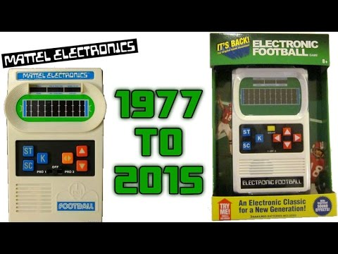 Reproductions Of Mattel Electronic Football  Handheld Game Appeared At My Local Toys R Us