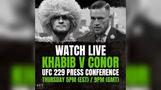 Conor McGregor vs. Khabib Nurmagomedov: Press conference ahead of UFC title fight