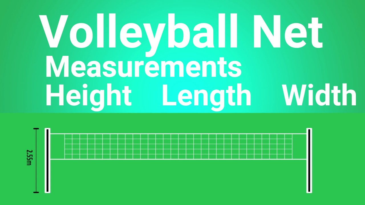 Volleyball Net Measurements Volleyball Net Size Volleyball Net Height Sports Information Youtube