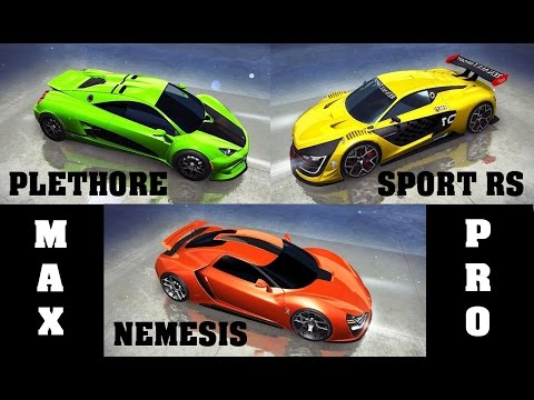 Asphalt 8 - Acceleration test & races (HTT vs Sport vs Trion)