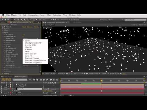 04. Getting Started With Trapcode Particular 2 - Physics: Bounce