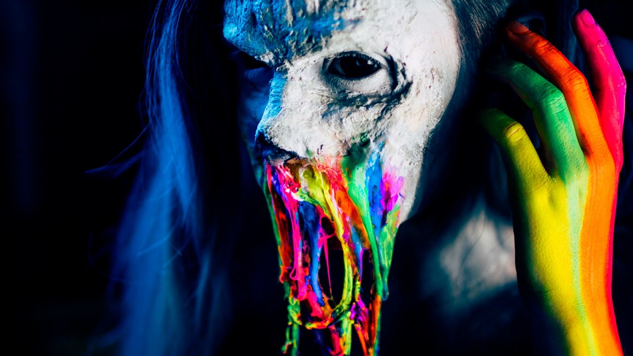 Rainbow Neon Zombie Fx Makeup Tutorial Youtube