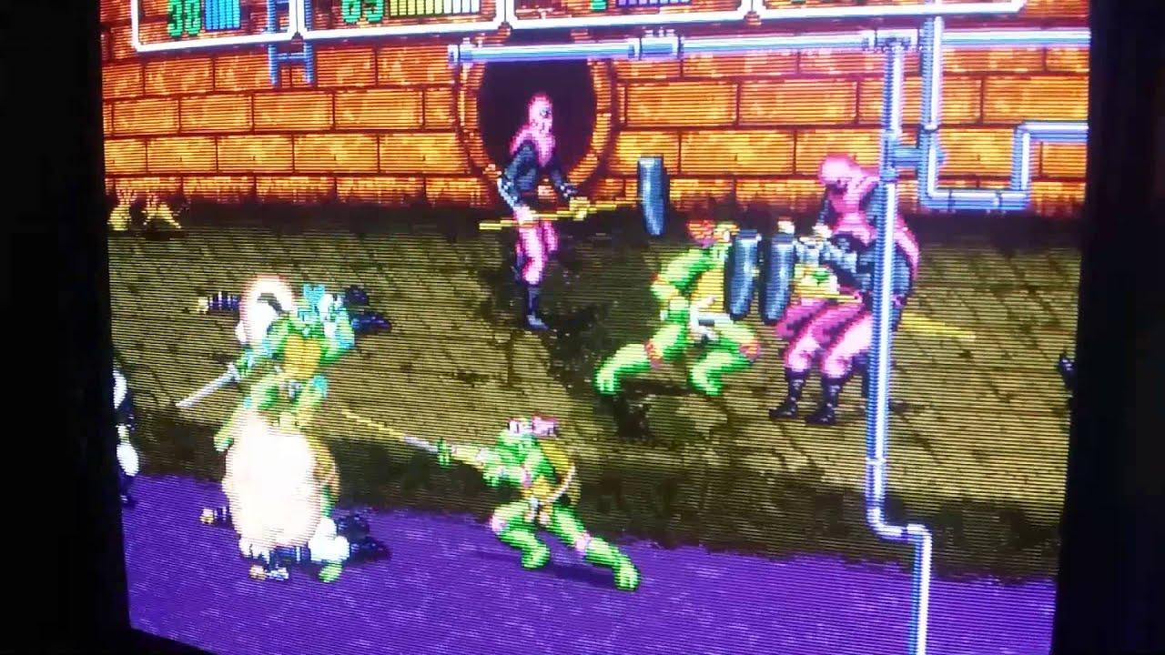4 player Teenage Mutant Ninja Turtles Arcade on 3 Sony Bvm's + 1 Pvm