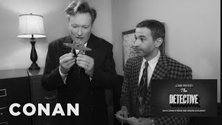CONAN Highlight: Can Jordan solve the clues to break out of the detective room before Conan snaps and kills him? More CONAN @ http://teamcoco.com/video ...
