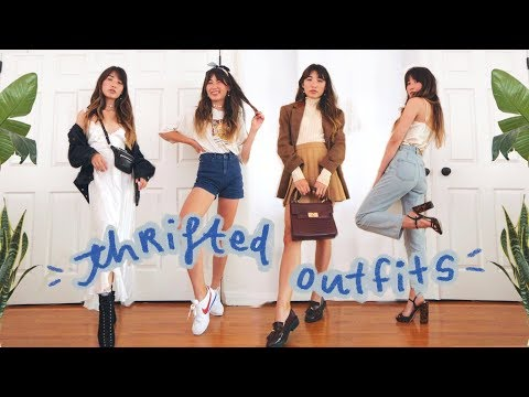 how to style thrifted clothes