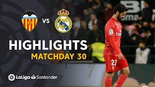 Highlights Valencia CF vs Real Madrid (2-1)
