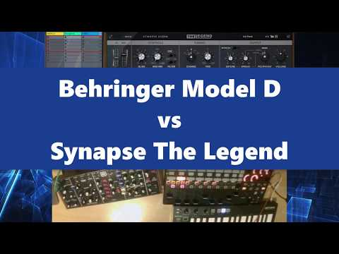 Behringer Model D vs Synapse The Legend (2018)