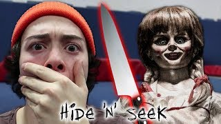 ONE MAN HIDE AND SEEK WITH ANNABELLE AT 3AM!! (SHE PUSHED ME)