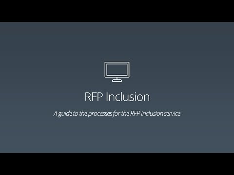 RFP Inclusion - Data Form and Bidding Process
