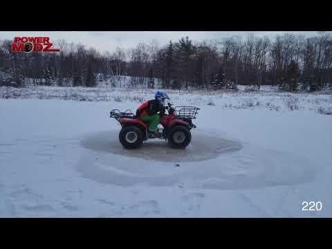ATV DONUT WORLD RECORD!!!! 255 DONUTS! POWERMODZ!