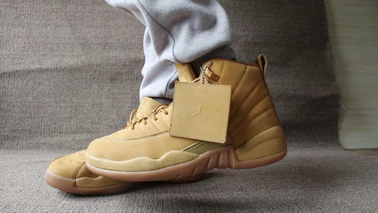 "PSNY x Air Jordan 12 ""Wheat"" On Feet"