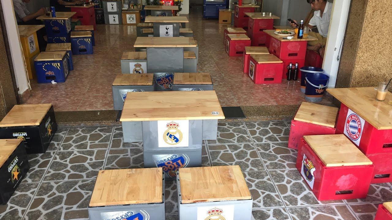 Kho Tư liệu Xây dựng – Bàn ghế độc lạ từ két bia