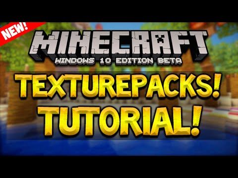 How To Install Texturepacks For Minecraft Windows 10 Edition Beta (Voice Tutorial)