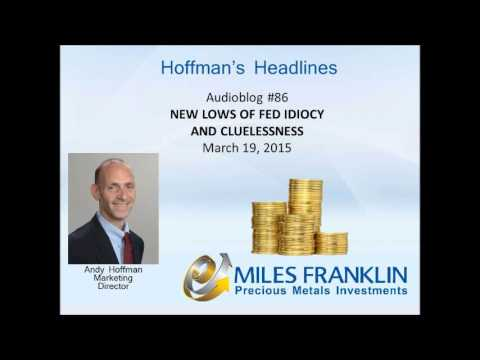 Audioblog #86 New Lows Of Fed Idiocy And Cluelessness