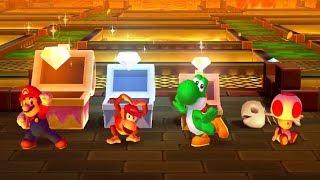 Mario Party Star Rush - All Funny Minigames - Mario Vs Toad Vs Yoshi Vs Diddy Kong (Master Cpu)