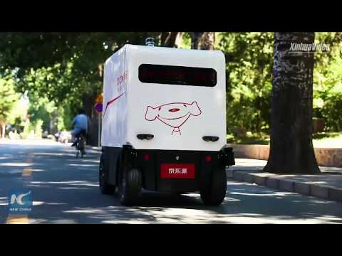 JD.com unveils new robotic couriers at tech expo in NE China
