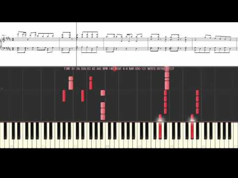[Piano Tutorial] Echo - Crusher-P ft. GUMI | With lyrics