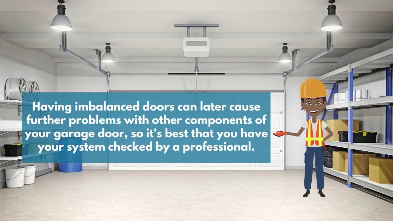 Is Your Garage Door Balanced Correctly Video Faq Garage Door