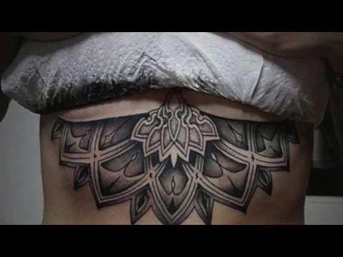 Татуировки под грудью на tattooink.com.ua