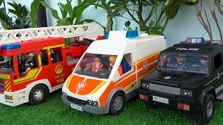 Ambulance, Trucks, Fire Truck, Police Car and Street Toys Vehicles for Kids