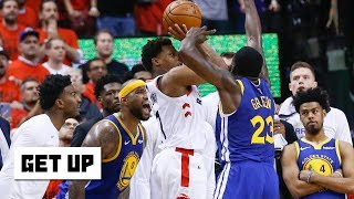 Download The Warriors shut down Kawhi to force Kyle Lowry's last shot and steal Game 5 | Get Up Mp3 and Videos