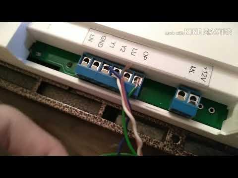 Подключение замка к домофону Eltis DP400-TD16