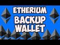 ETHERIUM MIST WALLET BACKUP | How to Backup and load the Ethereum Wallet