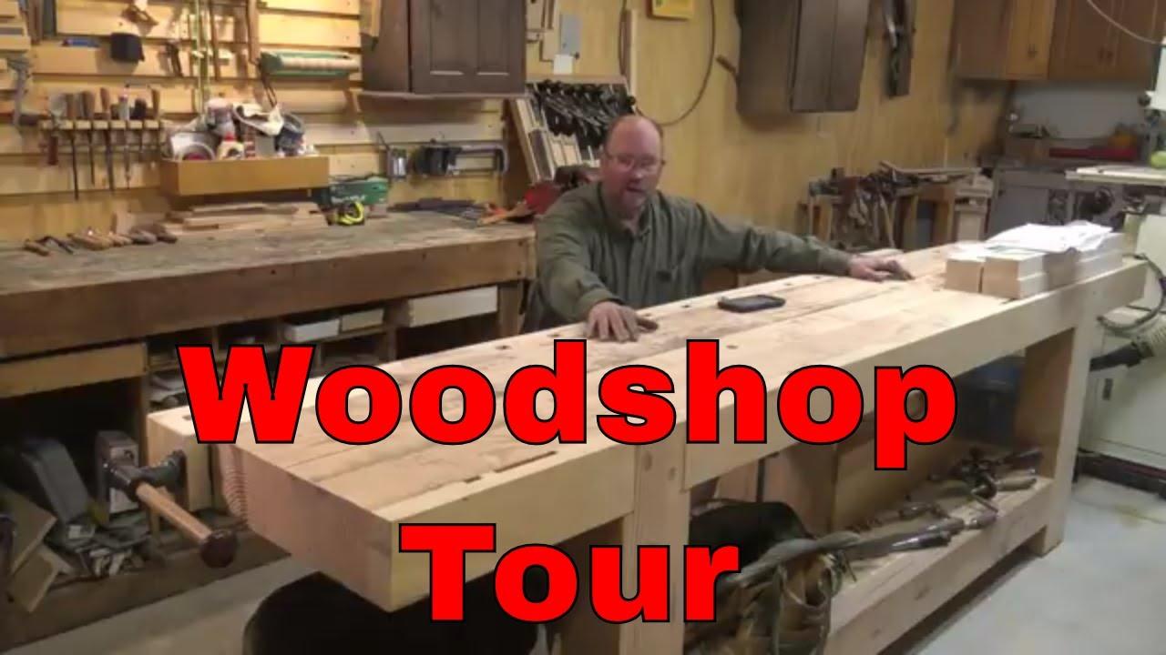 Woodshop Tour Basement Shop Youtube