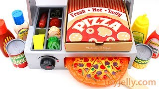 How to Make Play Doh Pizza Velcro Cutting Microwave and Doctor Drill Toy Baby Toy Appliance for Kids