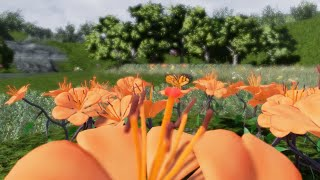 DoN Living Flora demo (PC Game) - Orange Lilies in Bloom!