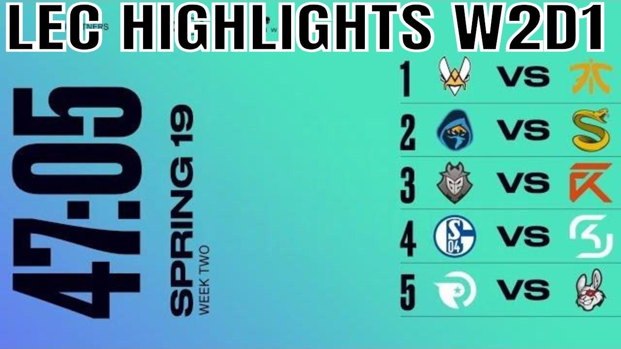 f7ef46bd288 LEC Highlights ALL GAMES Week 2 Day 1 Spring 2019