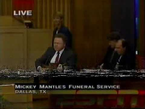 Mickey Mantle's Funeral - Roy Clark sings Amazing Grace