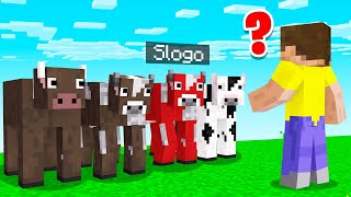 GUESS Which COW Is The REAL SLOGO! (Minecraft)