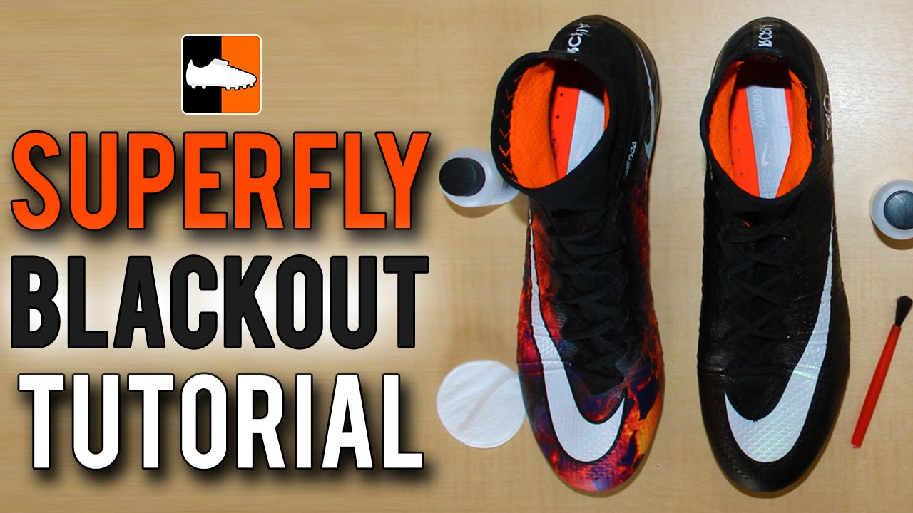 d8d970886 How to Black-Out Your Superfly Nike CR7 Mercurial Football Boots   Soccer  Cleats - YouTube