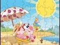 Пазлы Смешарики. Нюша кушает мороженое. Smeshariki Video Game. Nyusha and  Ice cream