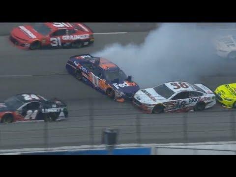 Monster Energy NASCAR Cup Series 2018. Texas Motor Speedway. Big Crash Red Flag