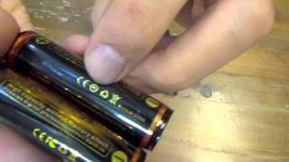 TrustFire 18650 充電池の本物と偽物、続き