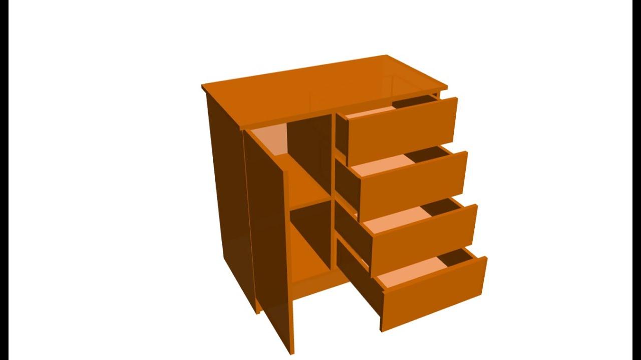 Construir closet o armario chifonier infantil con cajonera for Como hacer una comoda de madera pdf