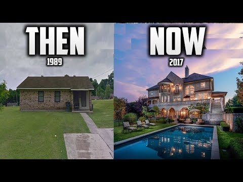 NFL players homes THEN & NOW!