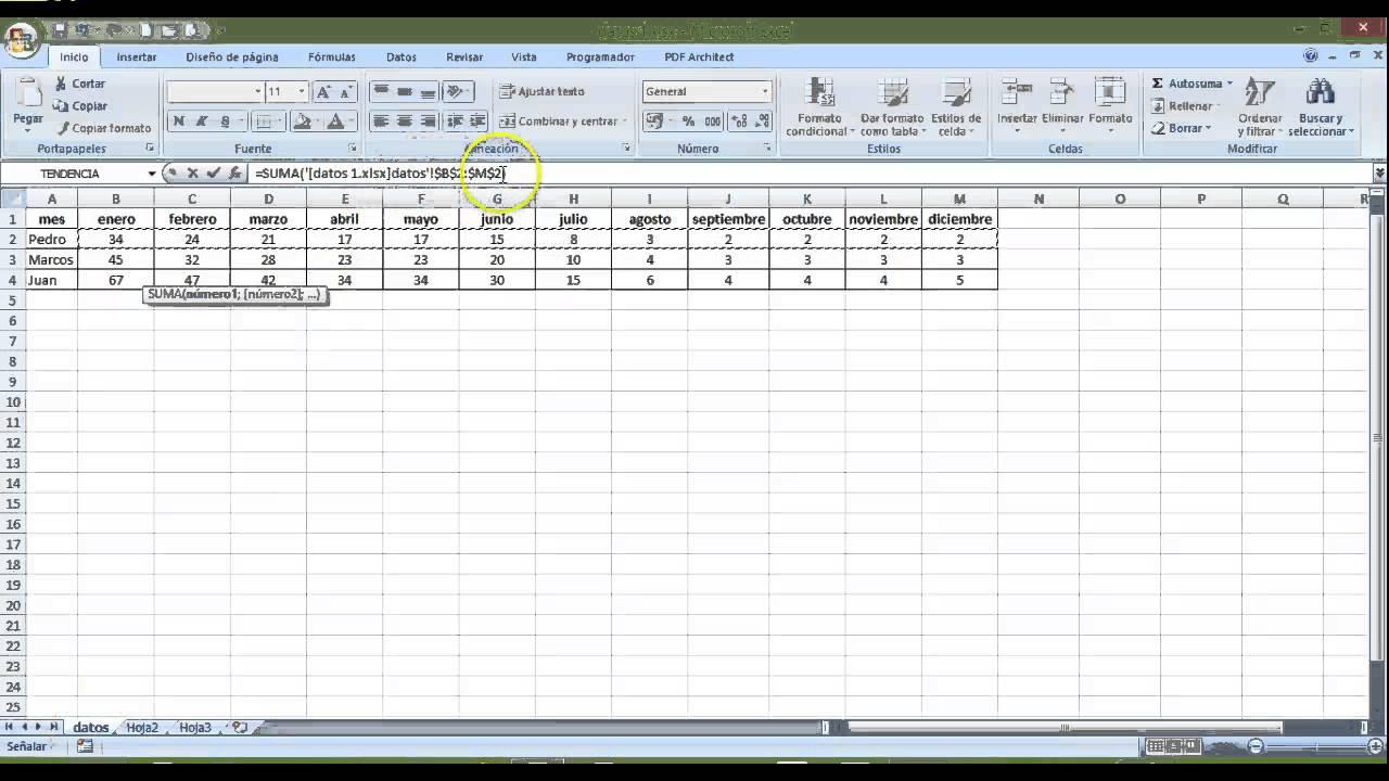 Cómo vincular datos de dos libros de excel diferentes - YouTube