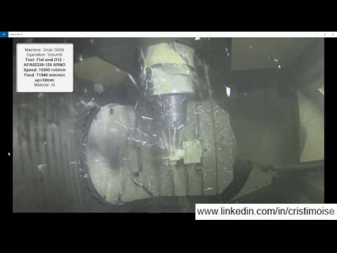 CAMWorks - Airplane machining (Volumill and Virtual Machine)