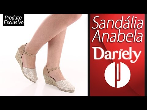 22b233d4a45 Sandália Anabela Feminina Dariely - 6091495846 - YouTube