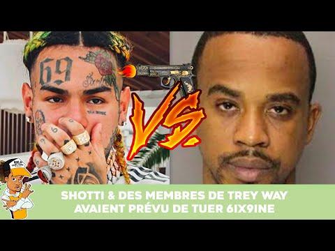 6ix9ine risque sa vie : Shotti & des membres de Trey Way avaient prevu de le tuer