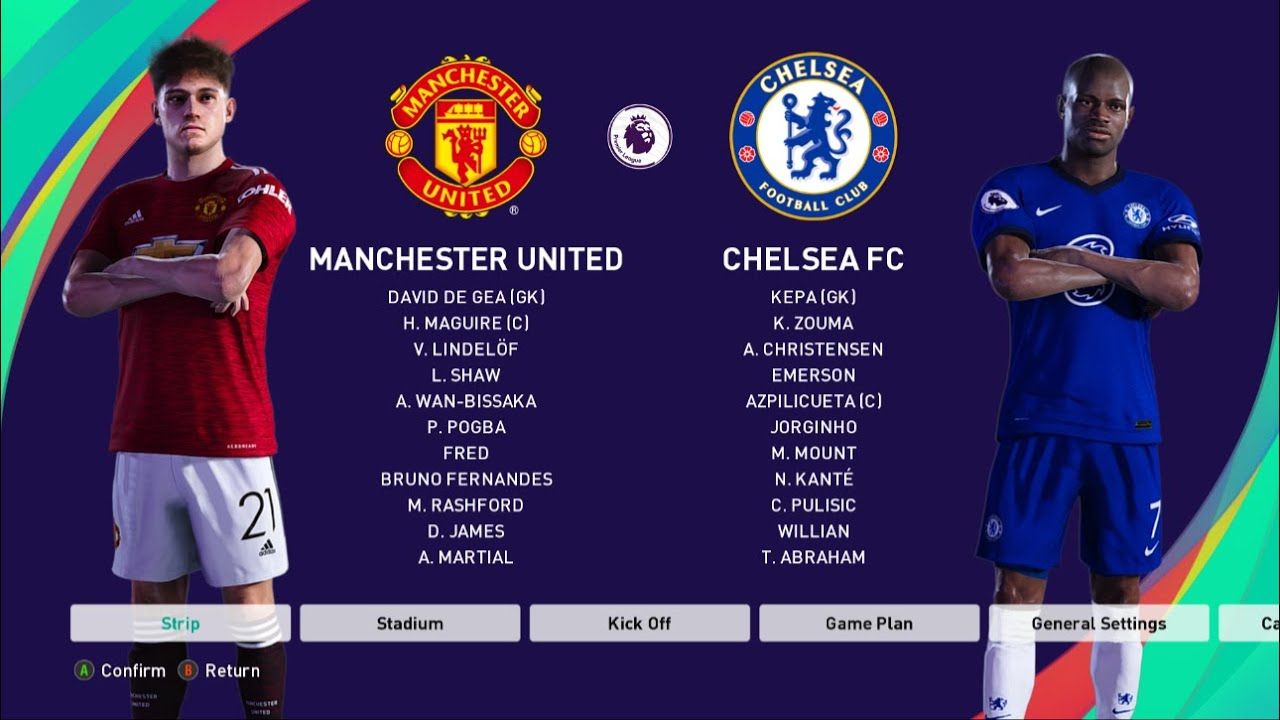PES 2021 | Manchester united vs Chelsea | Premier League 2020/21 | Full Match & Gameplay