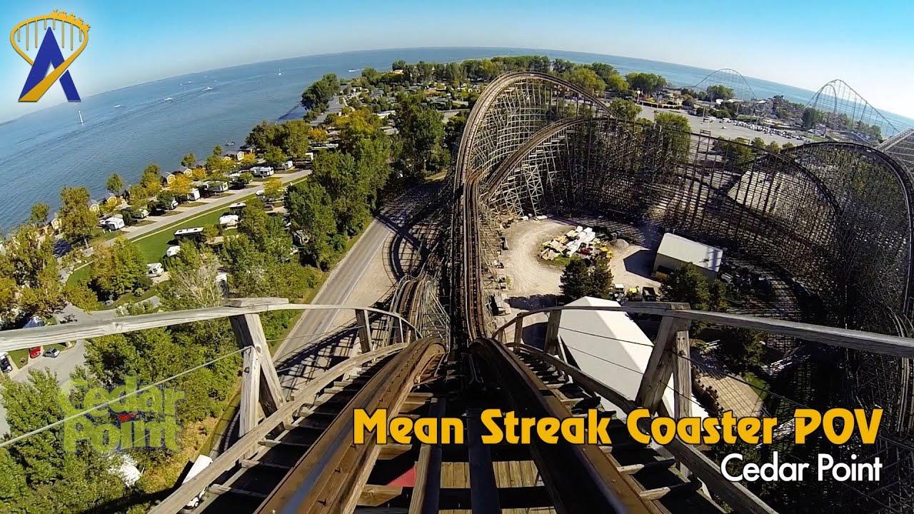 Mean Streak Wooden Roller Coaster Pov At Cedar Point