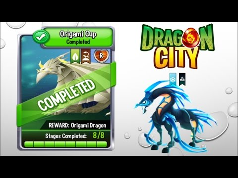 Hunger Dragon Battle For Origami Cup Complete Gameplay Dragon City