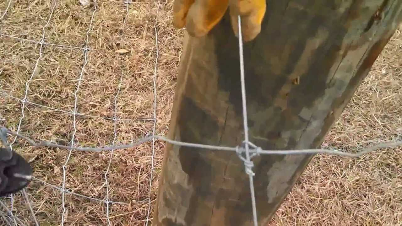 Stripping Knots on a High Tensile Fixed Knot Fence - YouTube