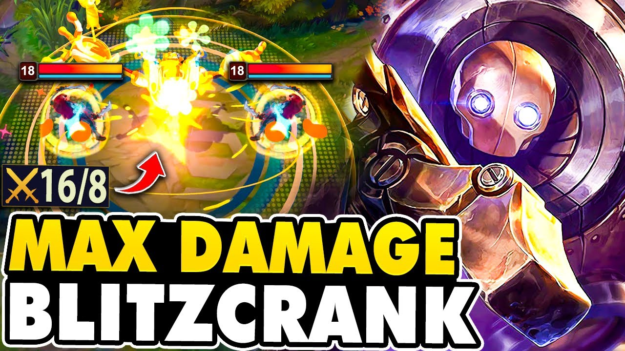 I Made Blitzcrank Do Max Damage In-Game By Building FULL TANK!