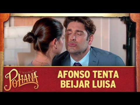 Afonso tenta beijar Luisa | As Aventuras de Poliana